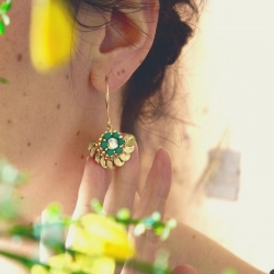 Boucles Hibiscus - Menthe