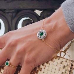 Bracelet galant - Vert givré