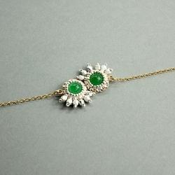 Bracelet Charmant - Vert givré